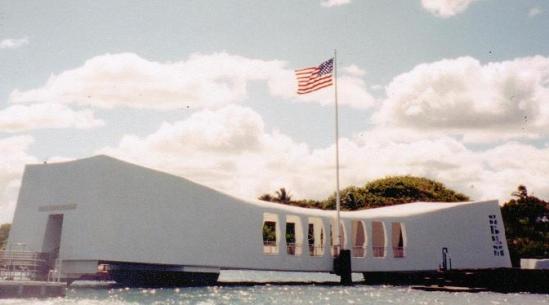 The U.S.S. Arizona Memorial In Pearl Harbor, Hawaii. -Original Photo By Bradley Alan-