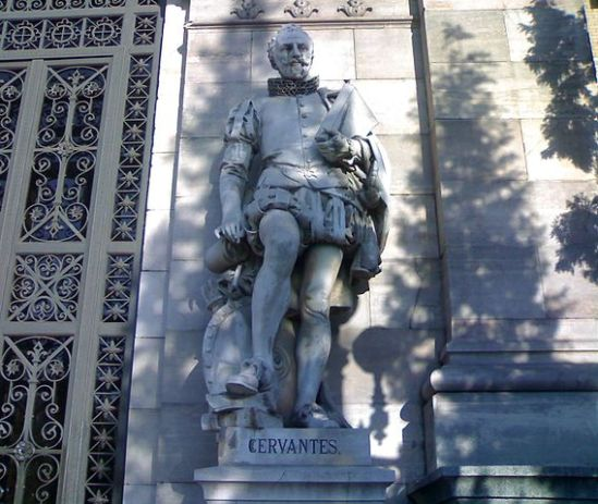 Miguel_de_Cervantes_at_the_National_Library (via Wikipedia)
